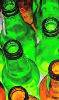 Empty Bottles (PRT_231) - Canvas Art Print - 21in X 36in