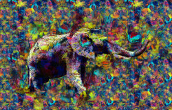 African Elephant (PRT_266) - Canvas Art Print - 33in X 21in
