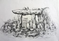 Rockscape 25 - 15in X 11in,ART_AKRR25_1511,Ink Colors,Artist Ashok Revankar,Rockscape Paintings,Rocks Paintings,Art of rocks Painting - Buy painting online in india