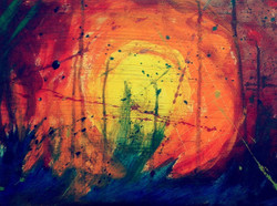 Turmoil - 15in X 11in,ART_CYJG3_1511,Artist Chinmay Jog,Abstract,Color Confusion - Buy painting Online in India