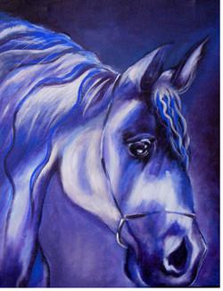 Horse - 14in X 18in (Canvas Board),ART_KISL13_1418,Acrylic Colors,Artist Kakali Sanyal,Race,Horse,Wild Horse - Buy Online Painting in India