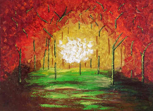 Forest - 24in X 18in (Canvas Board),ART_SAAX03_2418,Artist Shyla Alex,Abstract - Buy paintings Online in India