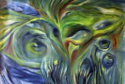 Underwaterworld - 35in X 24in,ART_GHBT04_3524,Artist Ganesh Bhat - Buy paintings online in india