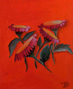 Beauty Of Sunflower - 10in X 12in (Canvas Board),ART_AAWA06_1012,Artist Annapurna Wadhwa,Sunflower,Floral,Buy Online painting in india