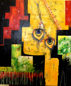 Krishna Art - 20in X 24in,ART_KAPL90_2024,Kankana Paul,Museum Quality - 100% Handpainted Abstract  - Buy Paintings online in india