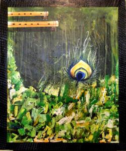 Krishna Art 1 - 20in X 24in,ART_KAPL91_2024,Kankana Paul,Museum Quality - 100% Handpainted Abstract - Buy Paintings online in india