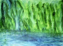 Foliage - 29in X 21in,ART_GHBT14_2921,Artist Ganesh Bhat,Abstract,foilage - Buy painting Online in India