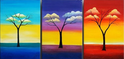 trees, tree, many trees, forest, growing tree, painting showing growth of tree,growth, abstract , abstract tree