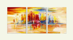 city, cityscape, landscape, city painting, abstract, abstract city, buildings