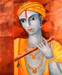 krishna, lord krishna, krishna with basuri, krishna with flute,flute, brown, yellow