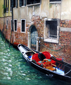 Sea Shore,Beauty of Venice,Ships,Red ,Blue Ship,Boat