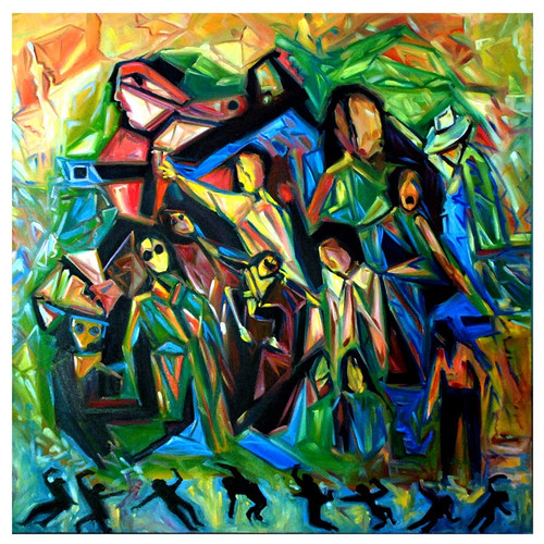 Buy abstract humans by community artists group rs 184490 code abstract figureshuman figures sciox Images