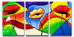 Closeness - Handpainted Art Painting - 48in X 24in