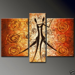 dance, dancing ladies, lady, dancing figures, multipiece