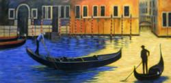 boat, man, man with boat, venice,seascape, cityscape, blue, river