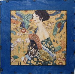 Klimt The Lady - 40in X 40in,FIZ051KLM_4040,Multi-Color,100X100,Replicas Art Canvas Painting