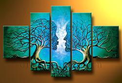 Blue Heaven - Handpainted Art Painting - 72in X 36in