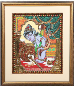 Krishna,Lord Kanaya,Murlidhar,Tanjore Art
