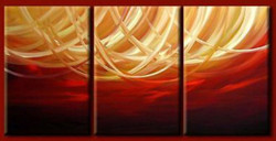 Ambition - 36in x 18in (12in x 18in X 3pc),RTCS_4_3618,Oil Colors,Canvas,36in X 18in,Community Artists Group,multi peice, multi,Museum Quality - 100% Handpainted