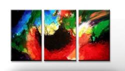 Calmness - Handpainted Art Painting - 60in X 24in (20in X 24in X 3pc)