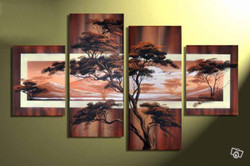 tree, trees,forest, multi piece tree, brown