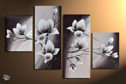Flower, flowers, blossom, white blossom, multi piece flower, multi piece white flower, flower vase