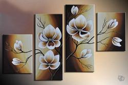 Flower, flowers, blossom, white blossom, multi piece flower, multi piece white flower