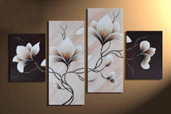 Flower, flowers, blossom, white blossom, multi piece flower, multi piece white flower