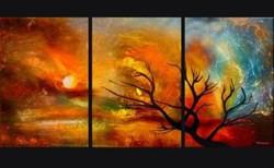 night, landscape, tree at night, night, moon, abstract night, orange abstract