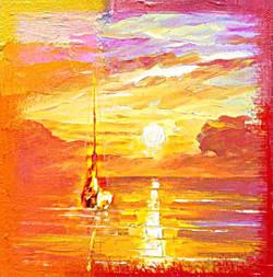 Landscape,Nature,Sun,Boat,Seashore