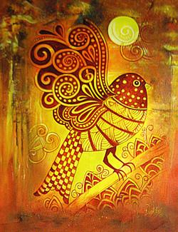 bird, abstract bird, sun, bird with sun, design, bird with design