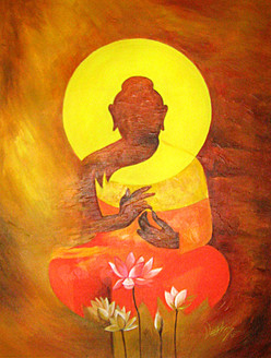 buddha, lord buddha, abstract buddha, the enlightened, gautam, buddha with flowers, buddha with lotus, pink lotus, buddha with pink lotus