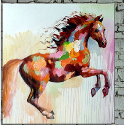 horse, horses, brown horse, multi color horse, jumping horse, galloping horse