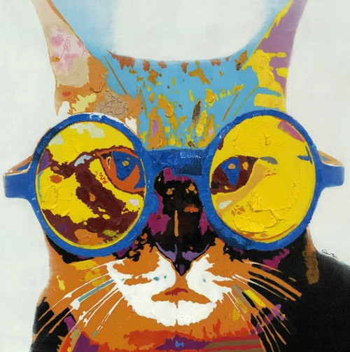 cat, cat with sunglasses, cat with glasses, yellow glassses
