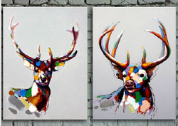 wild animal, multi piece deera, multi piece animal painting
