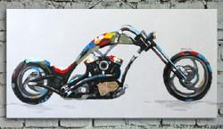 abstract, black abstract, blue abstract, abstract painting, bike, bike painting