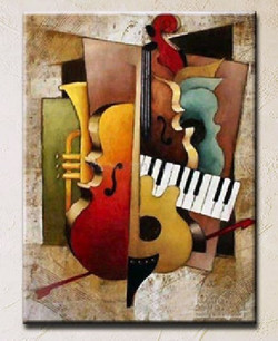Music 12 - 24in x 36in ,RTCSB_15_2436,24in x 36in ,Music,Sangit,Songs, Musical instrument,Oil Colors,Canvas,Cmmunity Artists Group,Museum Quality - 100% Handpainted