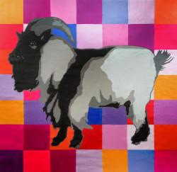 wild animal, wild life , wild life painting, sheep, wild sheep, lamb