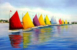 Landscape,Seascape,Boats,River Walk,Blue Sea,DeepBlue Sea, Working People at Sea,Colorful Boats