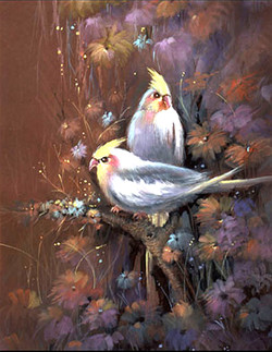 Bird,Bird Pair,Love Bird,White Bird, White Bird with Brown Background