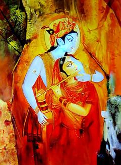 Radha Krishna,Krishna Playing Flute,Murlidhar