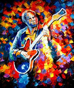 man, man painting, man playing music pianting, music, musical instrument, Guitar, man playing Guitar, music and dance