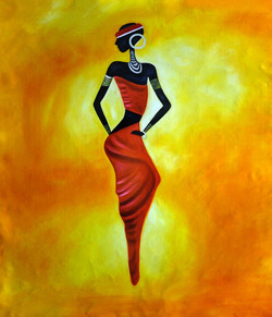 abstract,tribal lady, lady, woman, tribal, tribal painting, girl