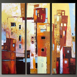 Sarrana - 36in X 36in(12in X 36in X each X 3Pcs.),RTCSB_52_3636,Oil Colors,Museum Quality - 100% Handpainted,Multipiece Paintings,Modern art - Buy Painting Online in India.