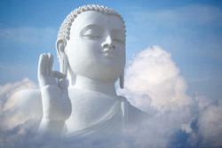 Buddha,White Buddha,Sky and Buddha,Meditation