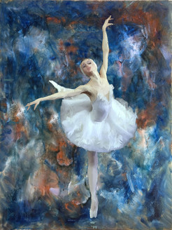 Elegance - 24in X 32in,56Figure11_2432,Community Artists Group,Canvas,Oil Colors,Beauty,Girl,Dancing,Museum Quality - 100% Handpainted