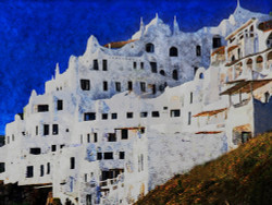 Spain - 40in X 30in,25Landscape83_4030,Community Artists Group,Canvas,Oil Colors,Beautiful,Museum Quality - 100% Handpainted,Spain city,Nice View of Building - Buy Painting Online in India.