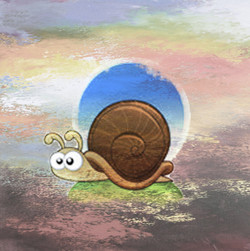A snail,Slow Animal
