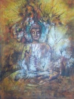 buddha, gautam, gautam buddha, meditating buddha, meditation, brown buddha, sitting buddha