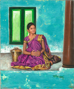 girl, lady woman, traditional indian lady, traditional, indian girl, girl in saree, lady in saree , woman in saree, traditional woman, indian lady, lady with pot, girl with pot, south indian girl, south indian lady, girl sitting, woman sitting, smiling ladt, smiling girl
